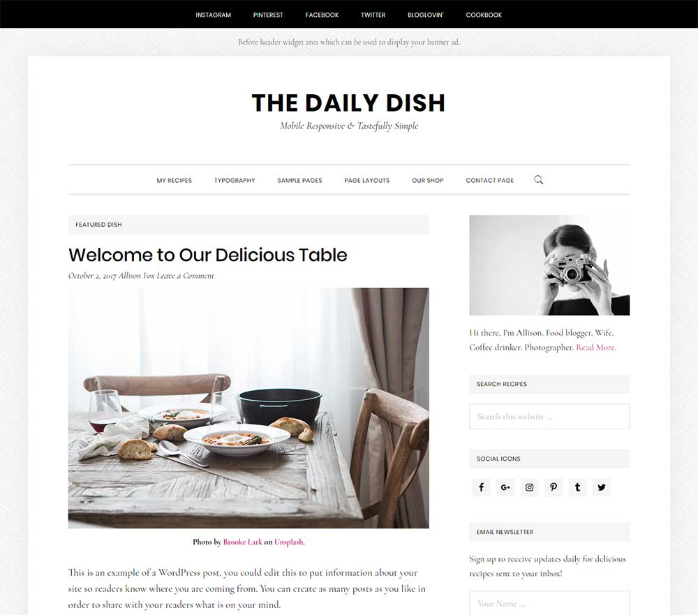 The Daily Dish Pro Theme