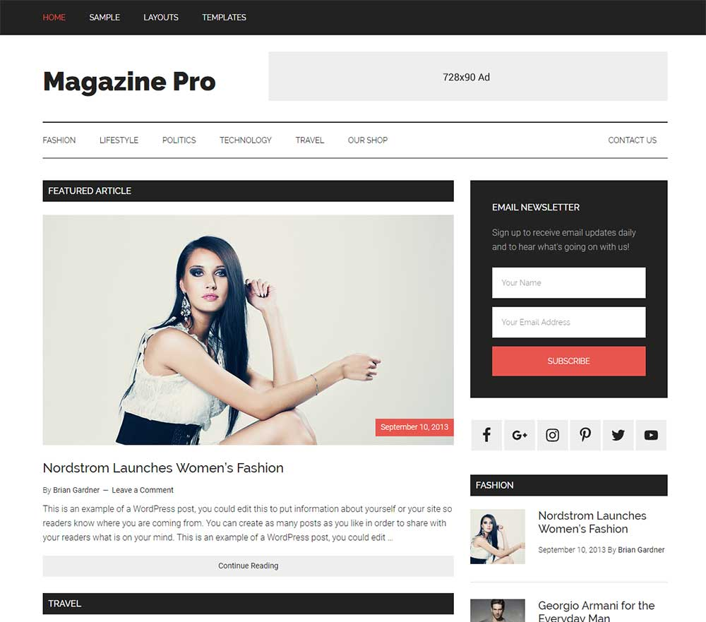 The Magazine Pro Theme
